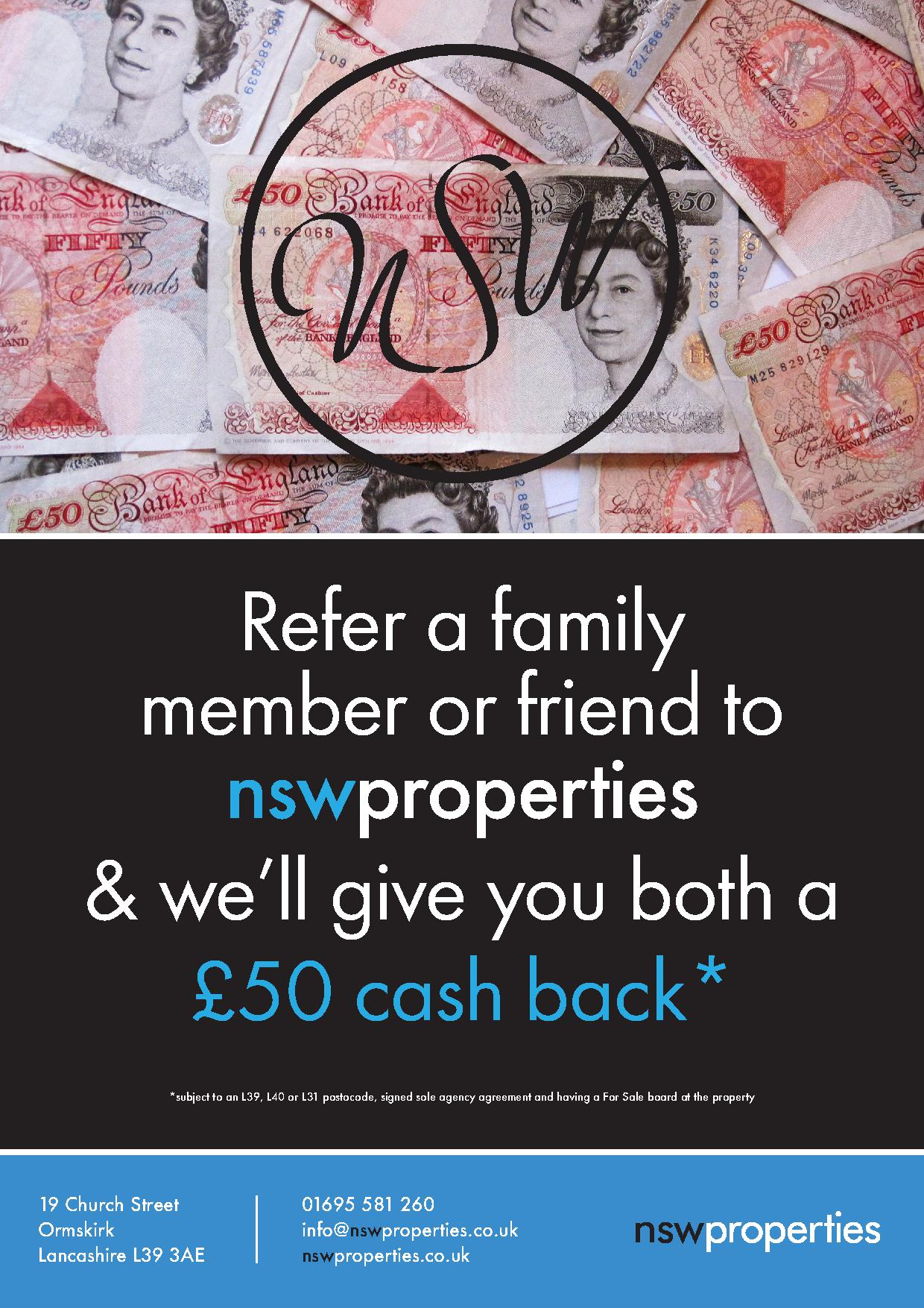 WIN £50 CASH BACK!